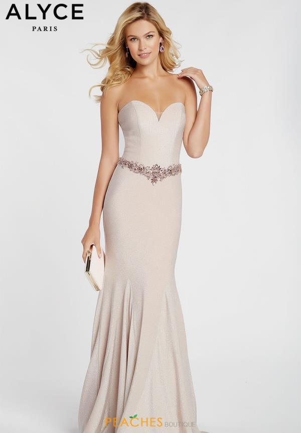 Alyce Paris Sweetheart Beaded Dress 60290