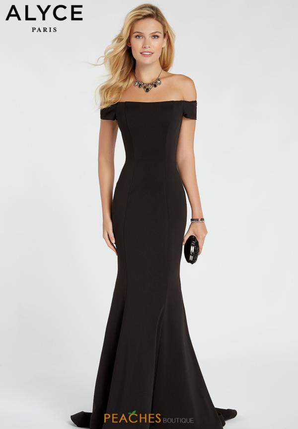 Alyce Paris Off the Shoulder Dress 60294