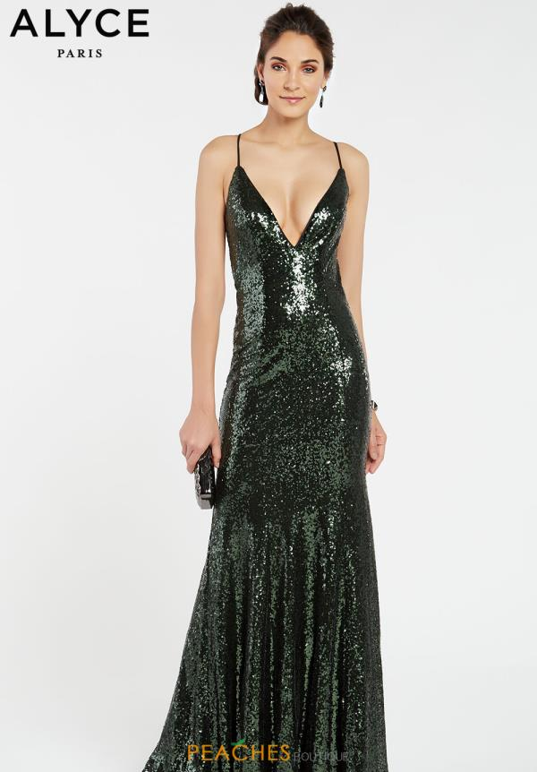 Alyce Paris V-Neck Sequins Dress 60303