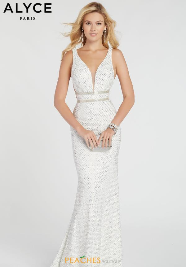 Alyce Paris V-Neck Beaded Dress 60315