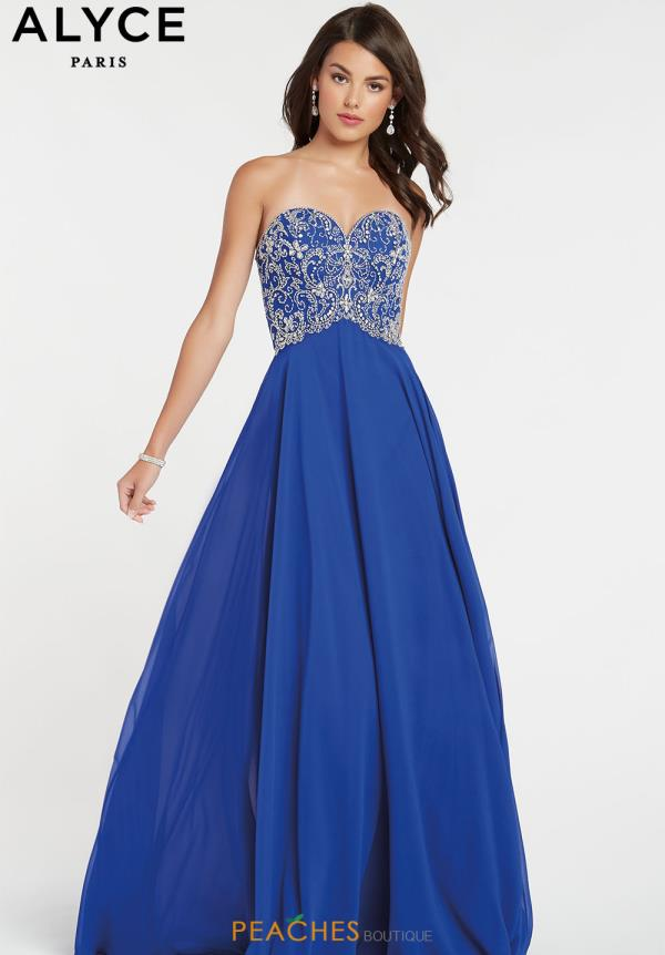 Alyce Paris A Line Beaded Dress 60351