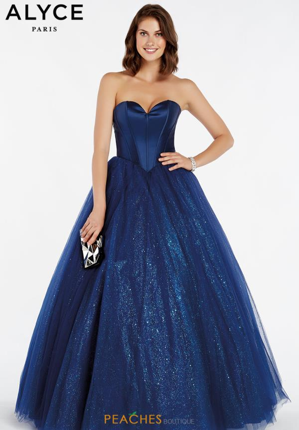 Alyce Paris Glitter Ball Gown 60382