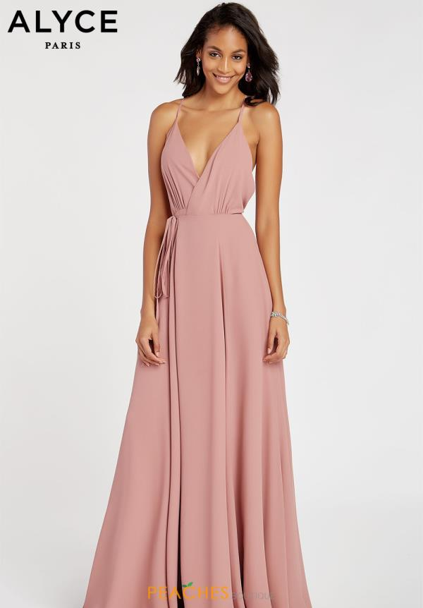 Alyce Paris V- Neckline A Line Dress 60456