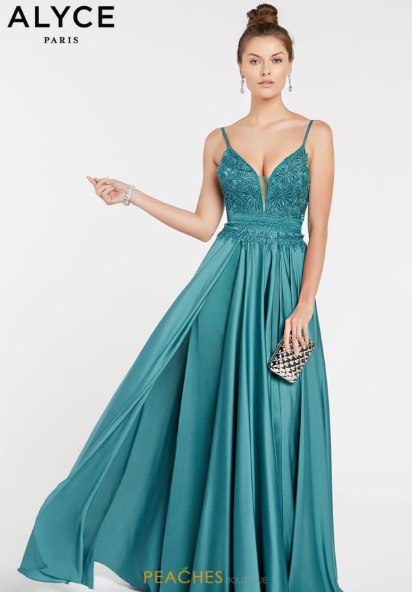 Alyce Paris Long A Line Dress 60462