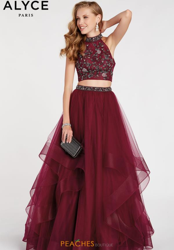 Alyce Paris Two Piece Beaded Dress 60512