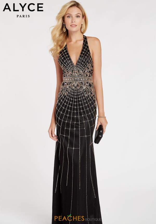 Alyce Paris Beaded Fitted Dress 60522