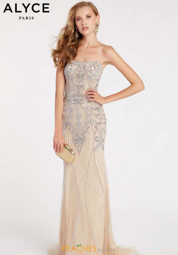 Alyce Paris Strapless Fitted Dress 60529