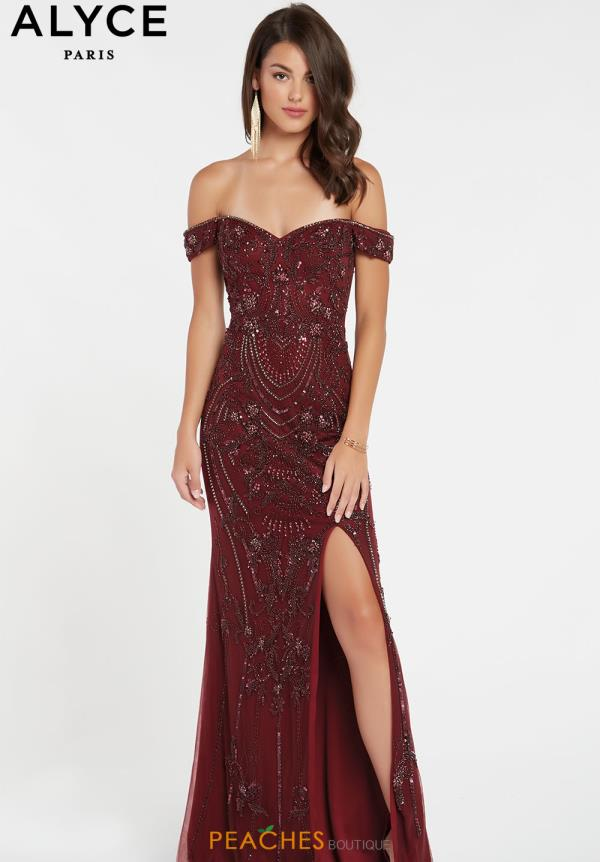 Alyce Paris Cap Sleeve Beaded Dress 60532