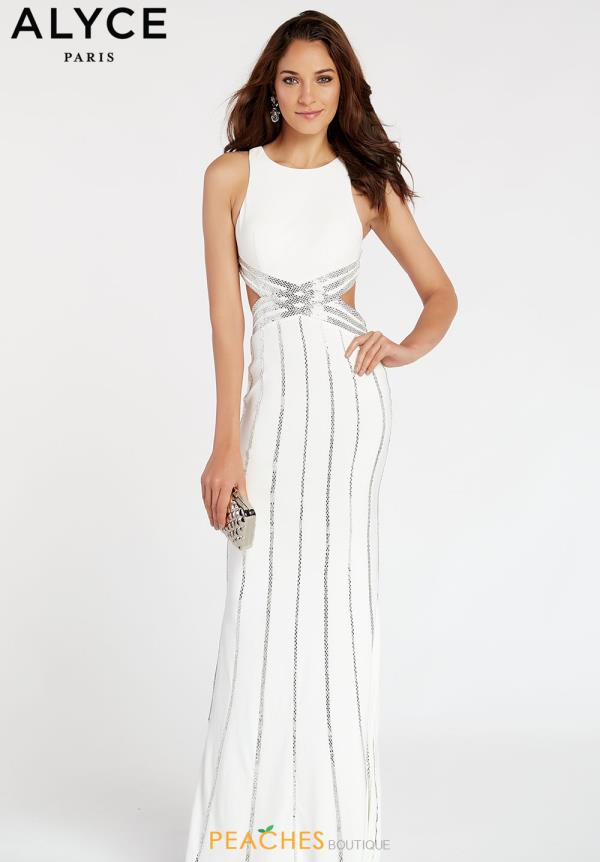 Alyce Paris Jersey Beaded Dress 60537