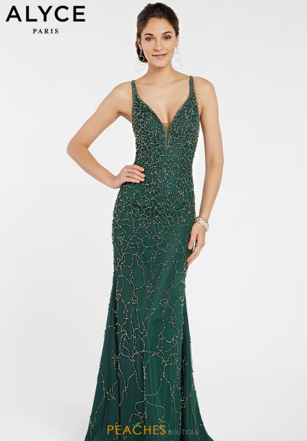 Alyce Paris Long Green Dress 60545