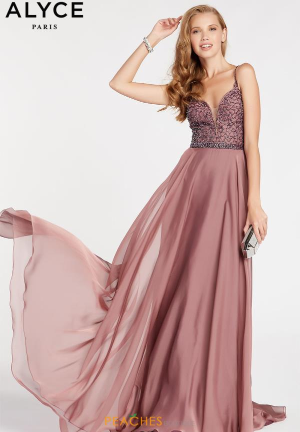 Alyce Paris Long Chiffon Dress 60546