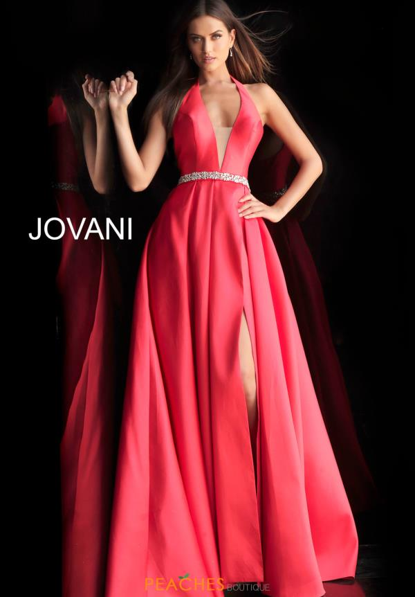 Jovani V-Neck Beaded Dress 63652