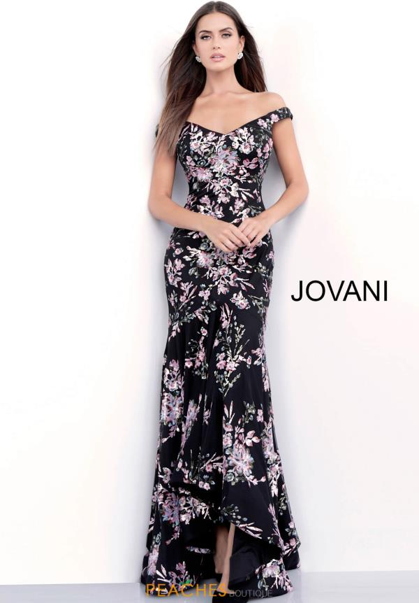 Jovani Off the Shoulder Fitted Dress 63951