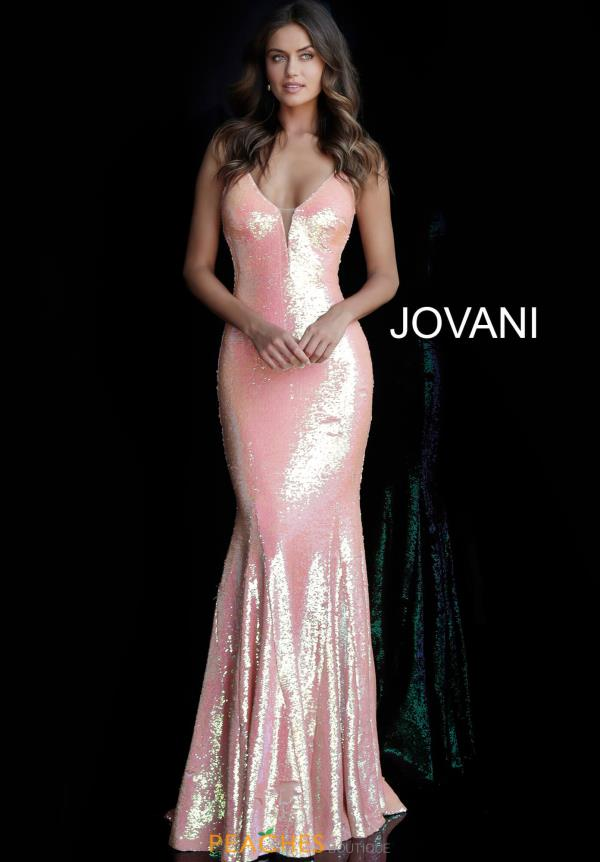 Jovani V-Neck Sequins Dress 65070
