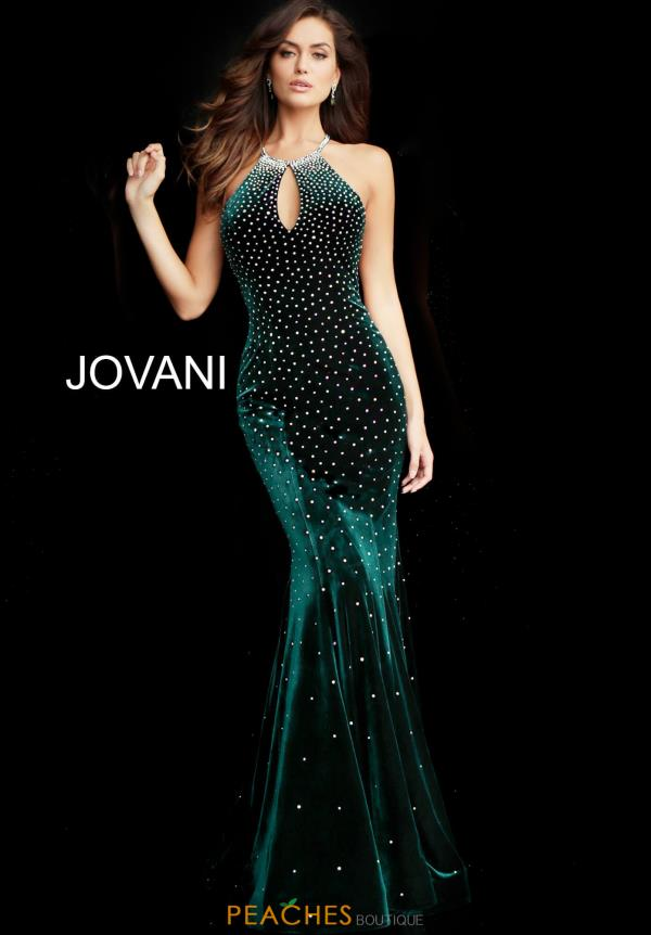 Jovani High Necline Beaded Dress 65312