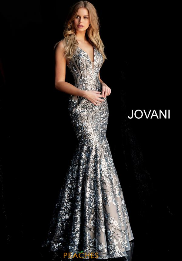 Jovani V-Neck Sequins Dress 65385