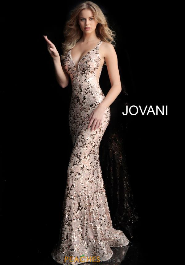 Jovani Open Back Sequins Dress 65570