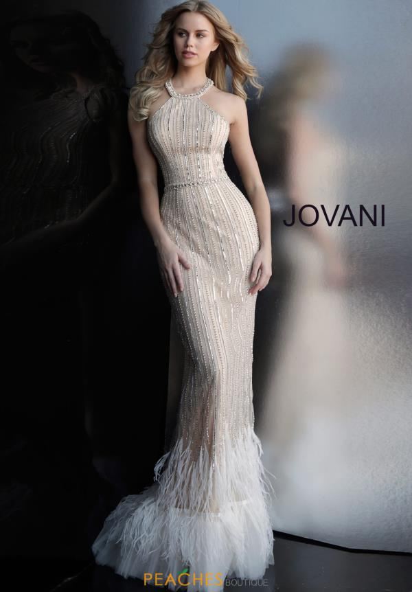Jovani Long Beaded Dress 65861