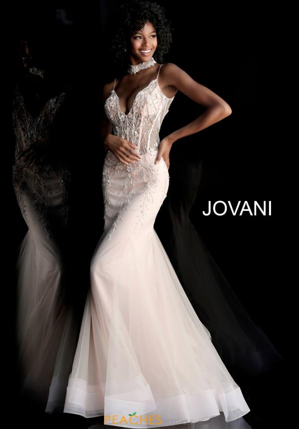 Jovani Beaded Full Figured Dress 66151