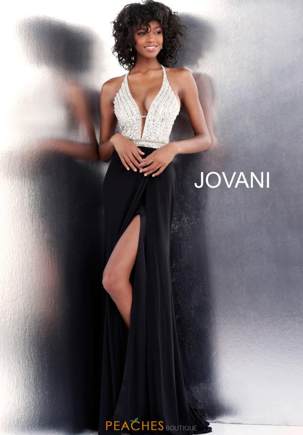 Jovani Beaded Fitted Dress 66376