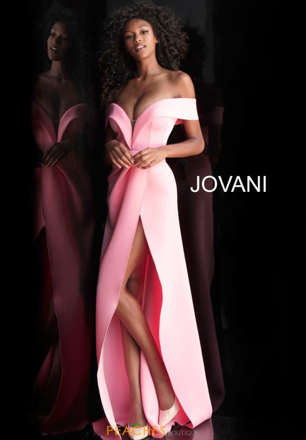 Jovani Neoprene Off the Shoulder Dress 66806