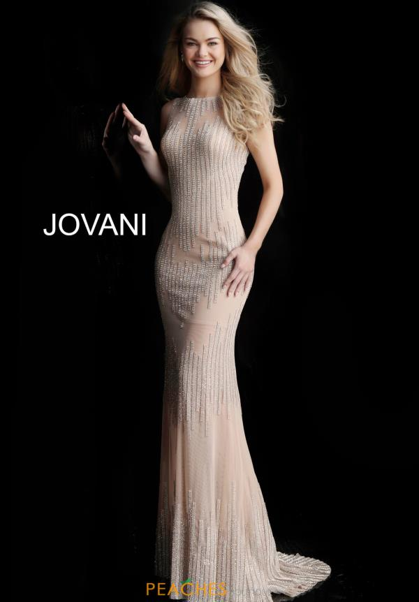Jovani High Neckline Beaded Dress 67088