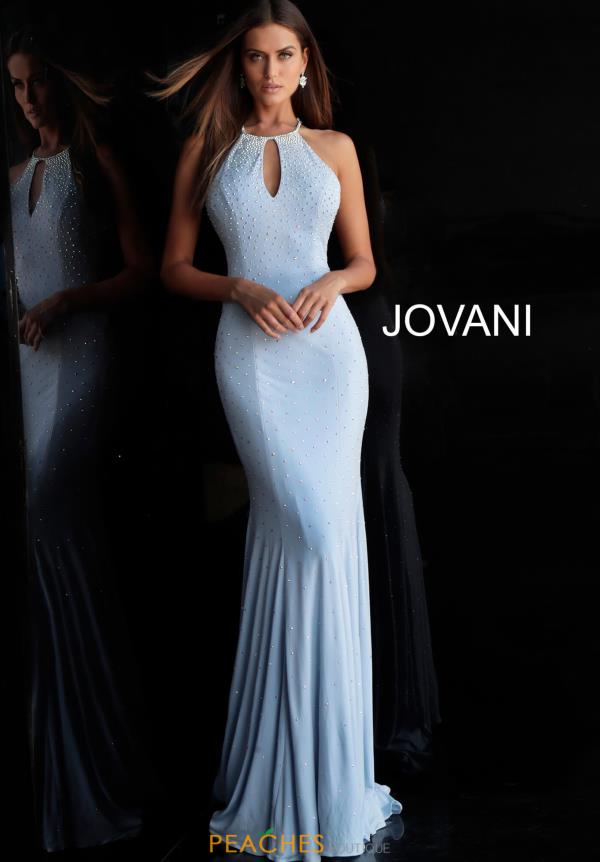 Jovani High Neckline Jersey Dress 67101