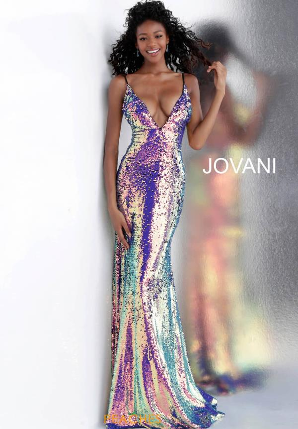 Jovani Sequins Fitted Dress 67318