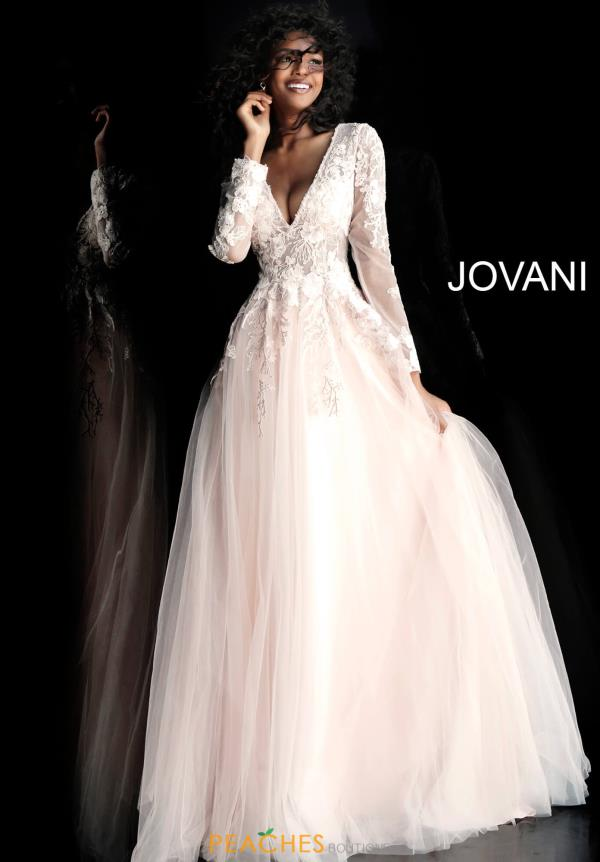 Jovani Long Sleeve Applique Dress 67393