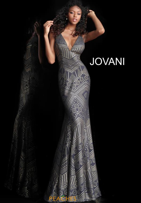 Jovani V-Neck Mermaid Dress 67844