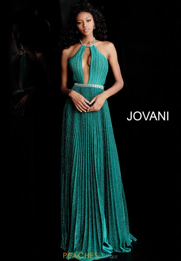 Jovani High Neckline Beaded Dress 68090
