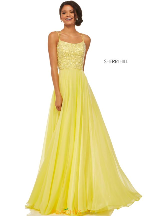 Sherri Hill A Line Satin Dress 52591