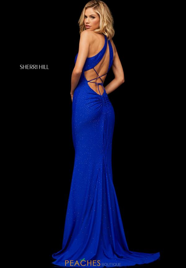 Sherri Hill High Neckline Beaded Dress 52792