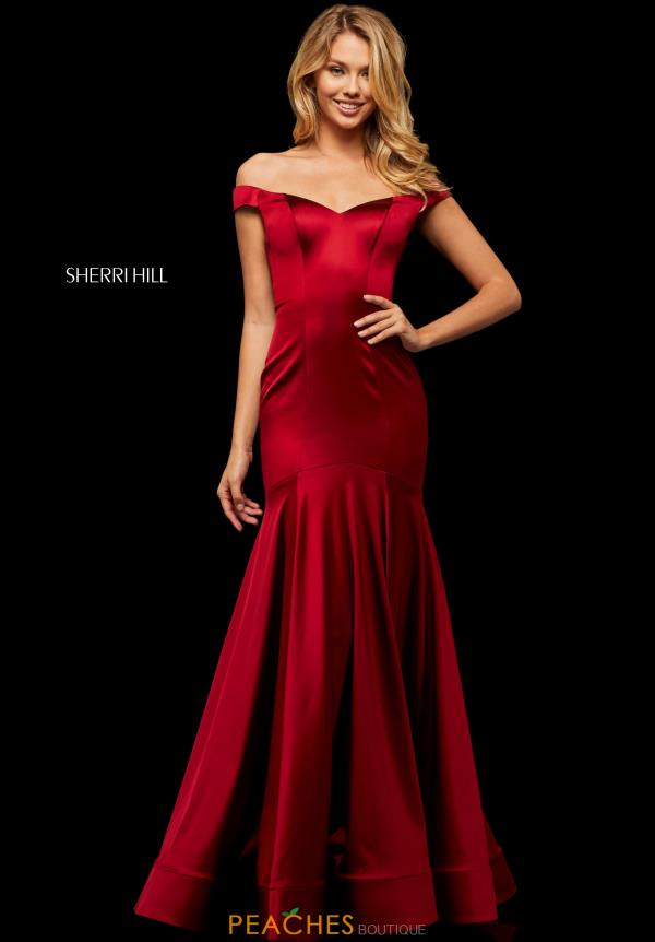 Sherri Hill Cap Sleeved Fitted Dress 52885