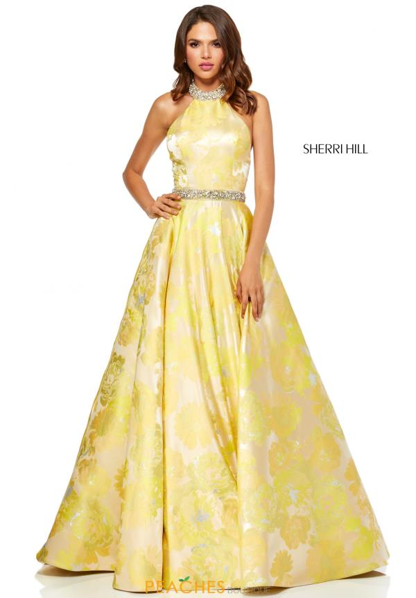 Sherri Hill Full Figured Beaded Dress 52425