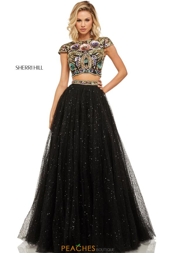 Sherri Hill Two Piece Tulle Dress 52435