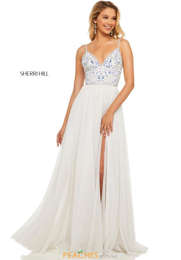Sherri Hill A Line Beaded Dress 52450