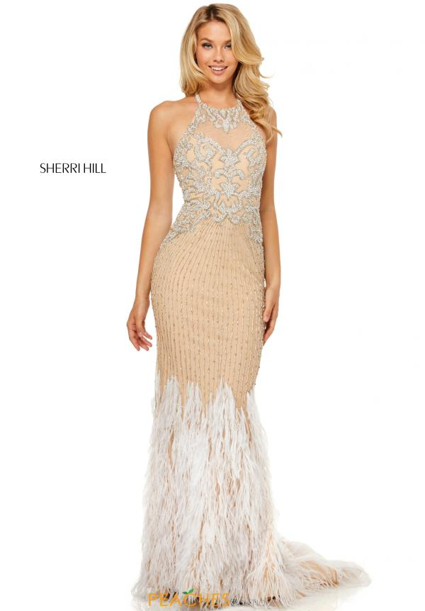 Sherri Hill Halter Beaded Dress 52517