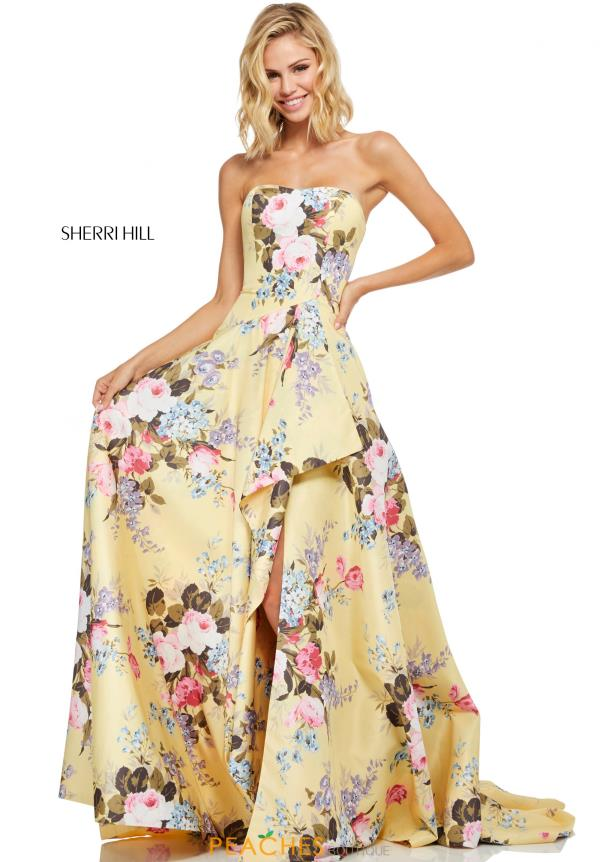 Sherri Hill Strapless Full Figured Dress 52531
