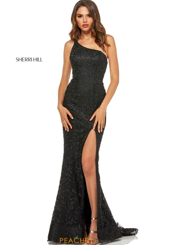 Sherri Hill Beaded Fitted Dress 52554