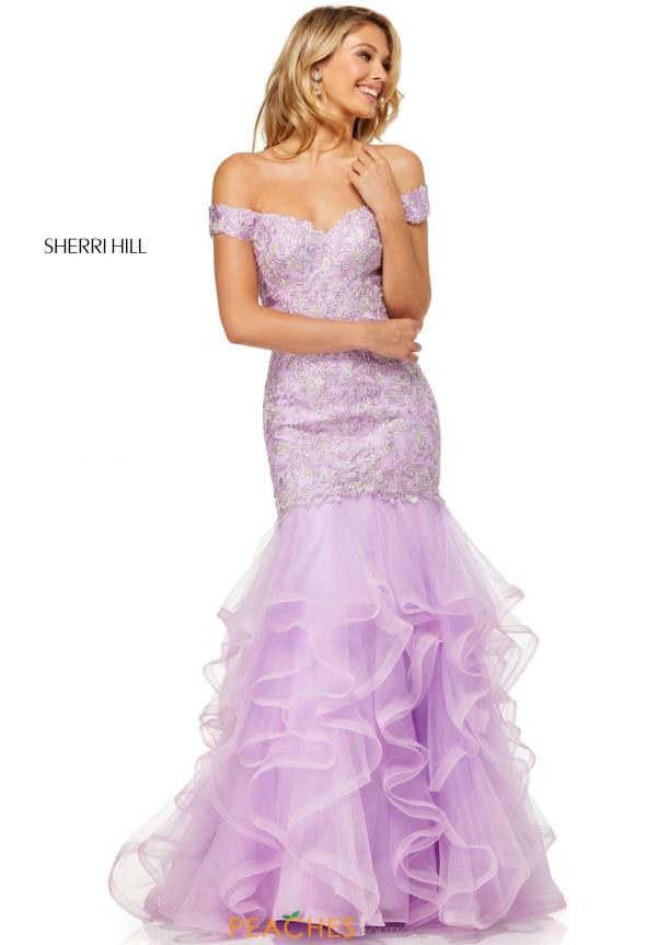 Sherri Hill Cap Sleeve Mermaid Dress 52559