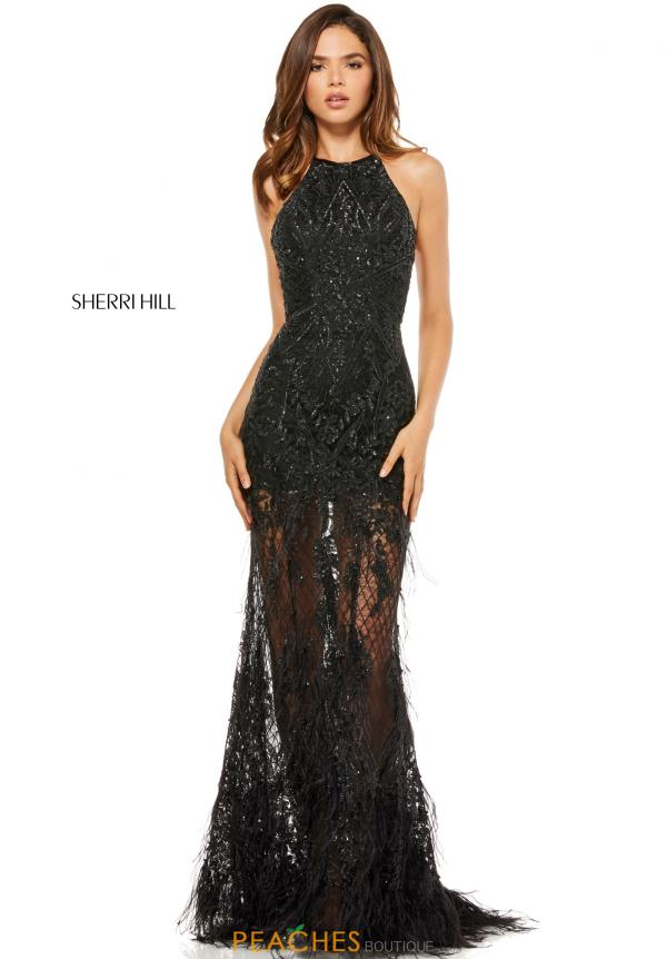 Sherri Hill High Neckline Sequins Dress 52561
