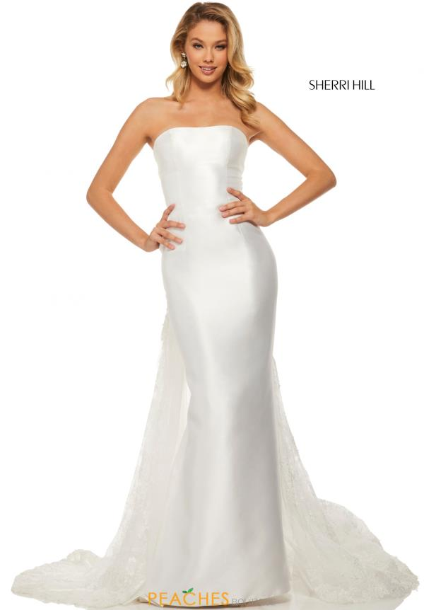 Sherri Hill Strapless Mikado Dress 52594