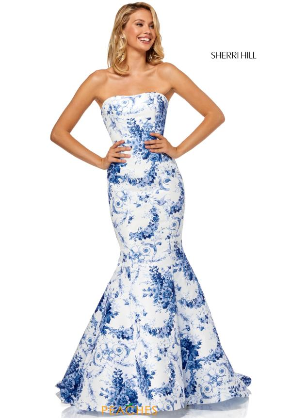 Sherri Hill Full Figured Strapless Dress 52618