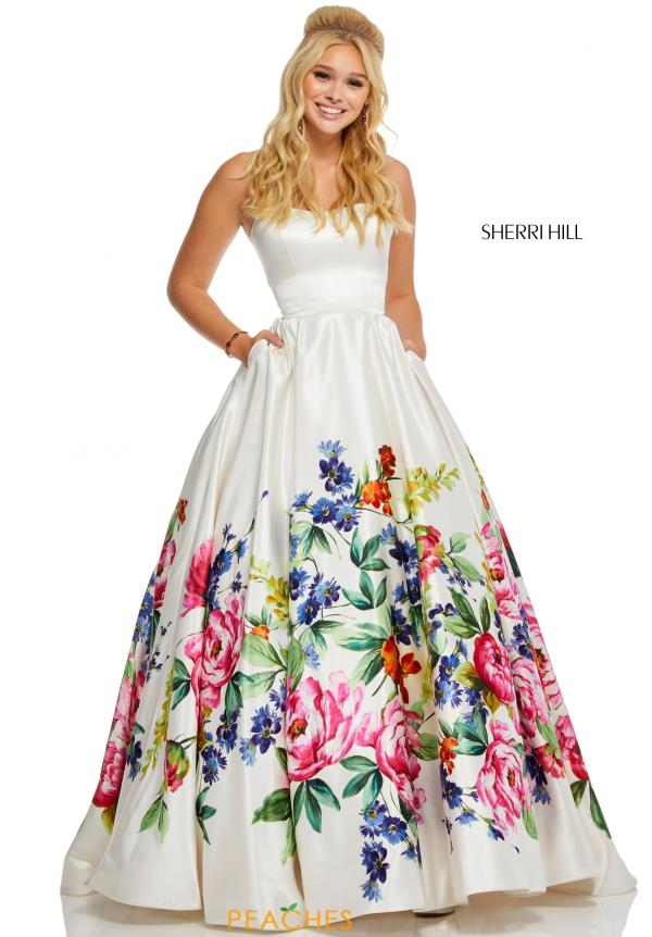 Sherri Hill Strapless Full Figured Dress 52626