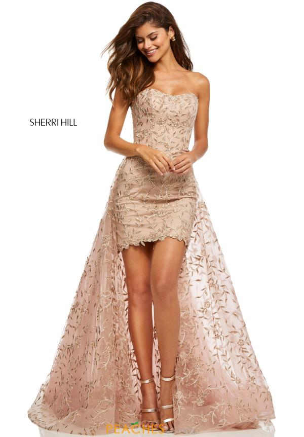 Sherri Hill Strapless Embroided Dress 52648