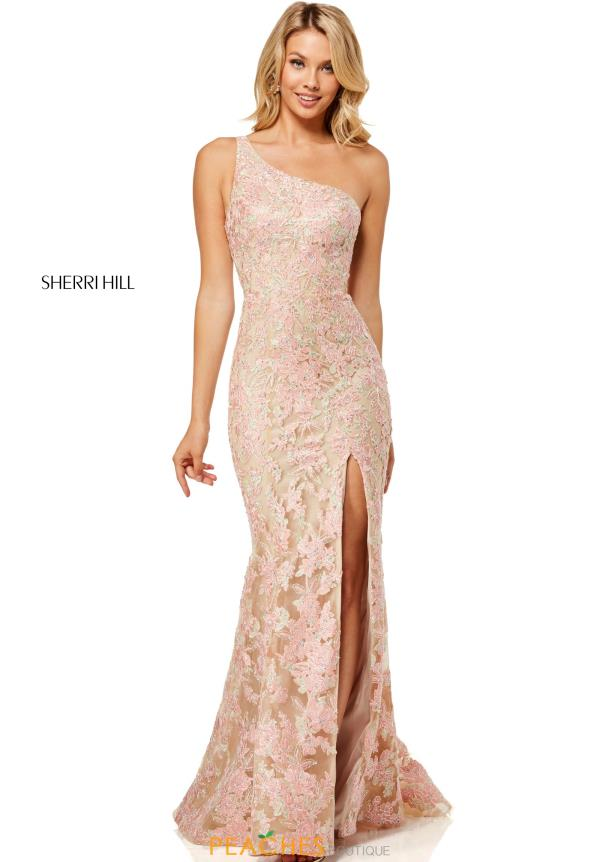 Sherri Hill Fitted Applique Dress 52654