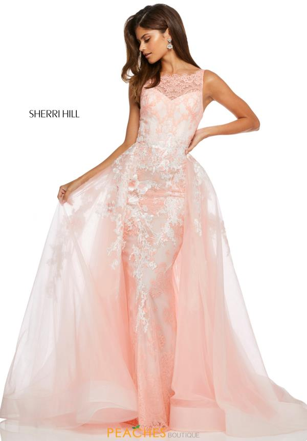 Sherri Hill High Neckline Lace Dress 52660