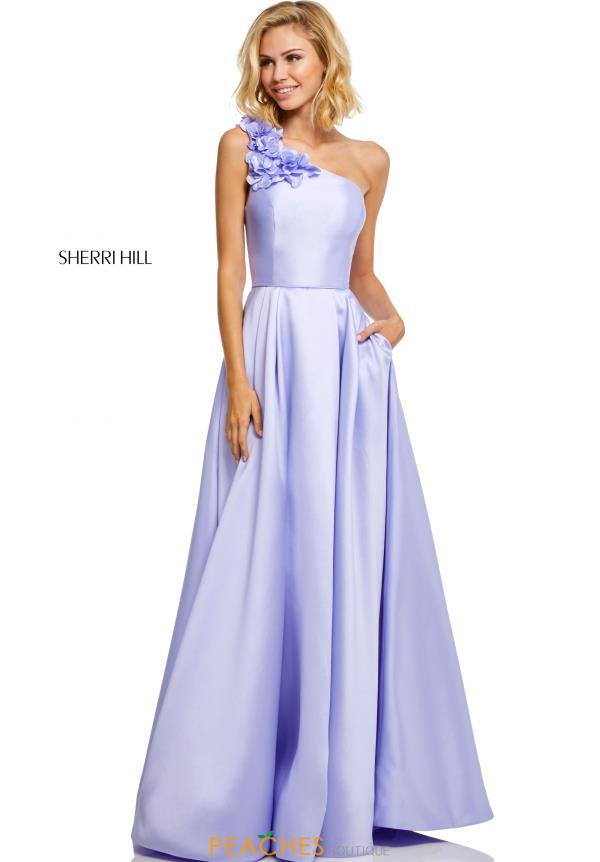 Sherri Hill Single Shoulder Mikado Dress 52720
