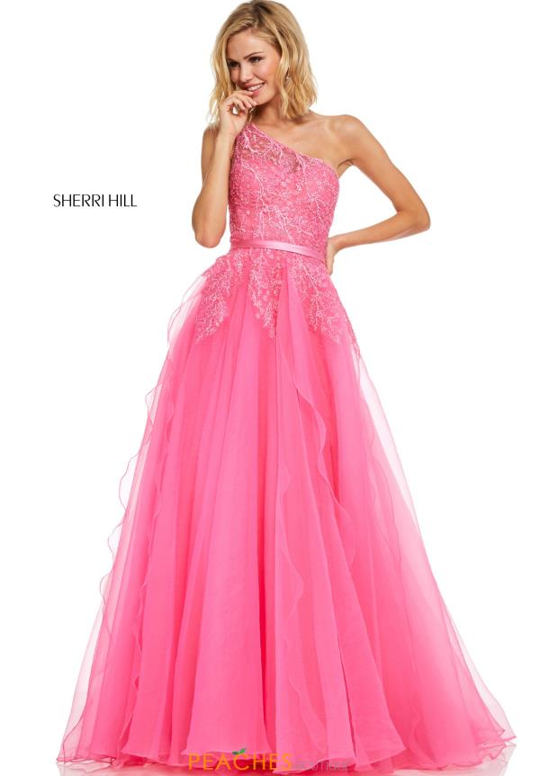 Sherri Hill Long Lace Dress 52736